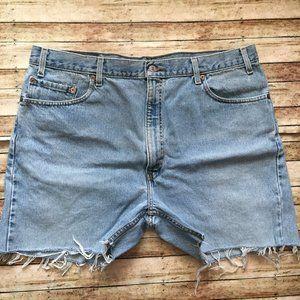 Vintage Levi's 505 High Waisted Cutoff Jean Shorts